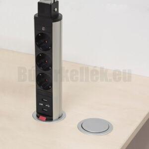 Konnektor Munkalapba süllyeszthető 3-as USB