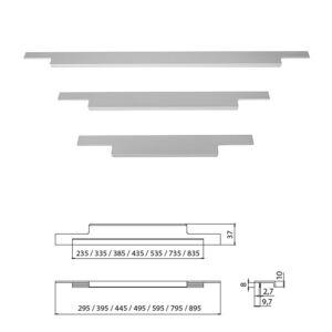 Fogantyú A027-445 445 Aluminium