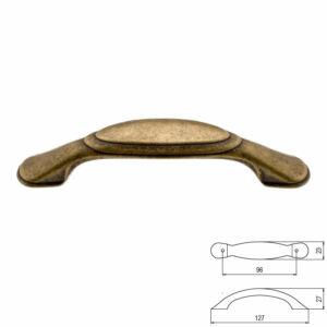 Fogantyú 216-96 Antik firenze fém