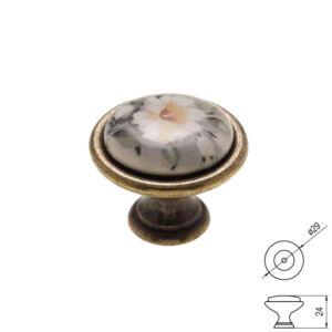 Fogantyú P08-01-12-04 Antik bronz-szürke átm-:29