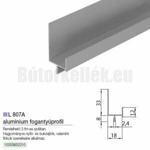 Fogantyú profil L807A Alumínium 3000mm