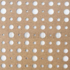 Perforált lemez Grezzo natur Hdf ARIEL perforációval 1520x605x3mm
