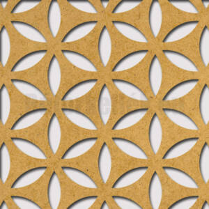 Perforált lemez Grezzo natur Hdf HANNA perforációval 1520x605x3mm