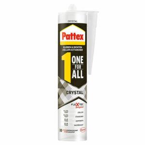 Pattex One for All Crystal polimer építési-szerelési és tükör ragasztó Átlátszó