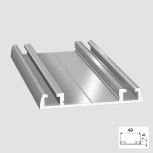 Tolóajtó Cleft alsó Sín 3m Aluminium