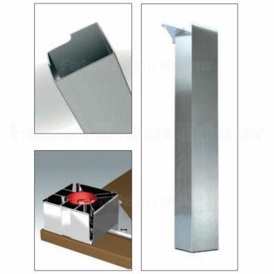 Asztalláb 642 Elitline 700x100x100mm Szálcsiszolt Inox