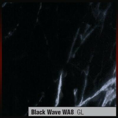 Munkalap vízzáró profil WA8 GL Black wave Fekete márvány