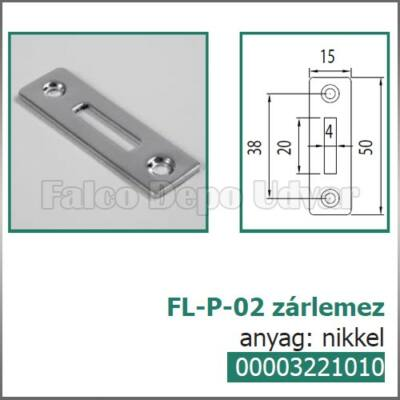 Bútorzár FL-P-02 zárlemez