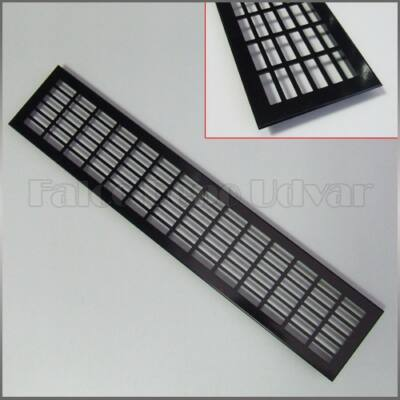 Szellőzőrács 100x504mm Fekete festett