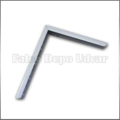 Metall fali konzol Nehéz konzol 30cm Fehér