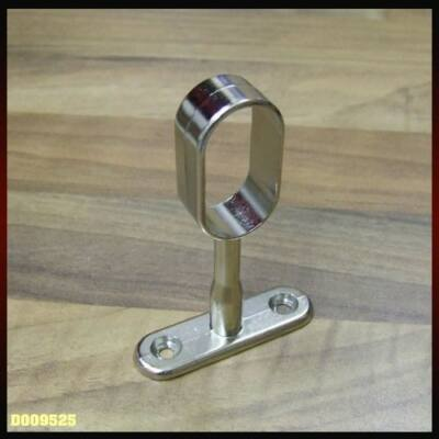 Fém vállfatartó függő rúdtartó 71mm ovális nyitott Nikkel 12109