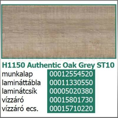 Munkalap vízzáró profil H1150 ST10 Authentic Oak Grey