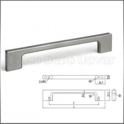 Fogantyú MZ-819-160-BSN  Brass nikkel