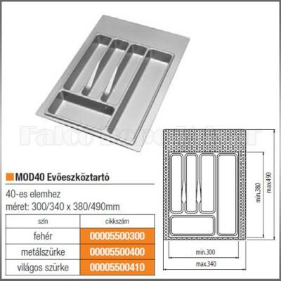 Evőeszköztartó MOD 40 490x340mm Fehér