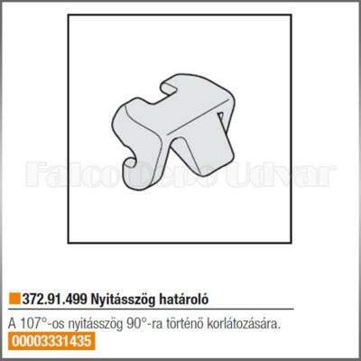 Felnyíló vasalat 372.91.499 Nyitásszög határoló
