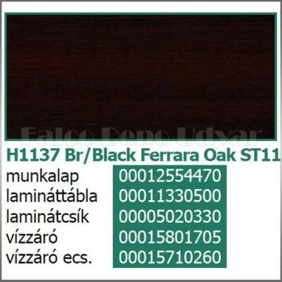 Munkalap vízzáró profil H1137 ST11 Brown-Black Ferrara Oak