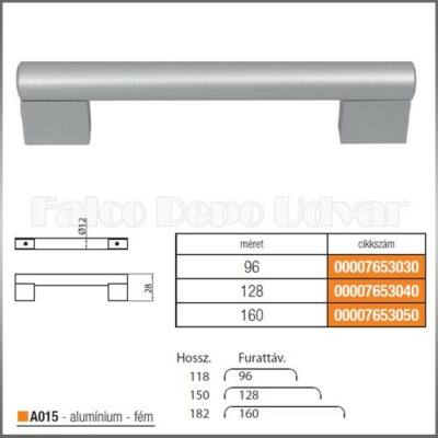 Fogantyú A015-160 Aluminium