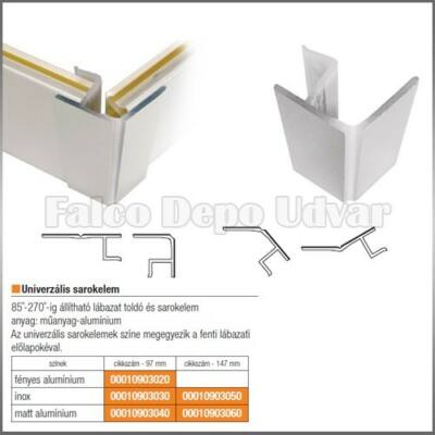 Lábazatelem multicorner 21-19.80 100 Inox