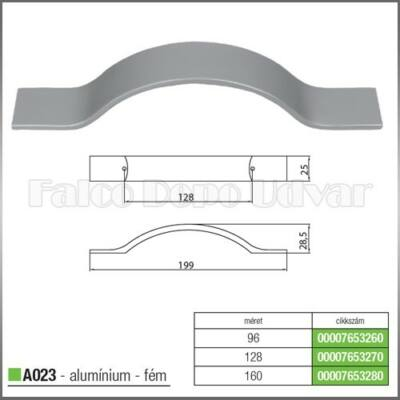 Fogantyú A023-160 Aluminium