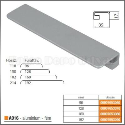 Fogantyú A016-160 Aluminium