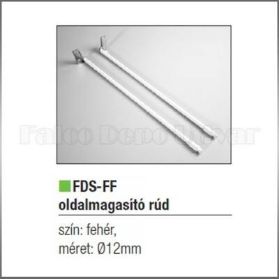 Fiókcsúszó FDS-FF Oldalmagasító rúd 500mm fehér