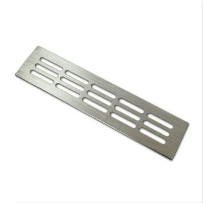 Szellőzőrács 60x250mm Szálcsiszolt Alumínium