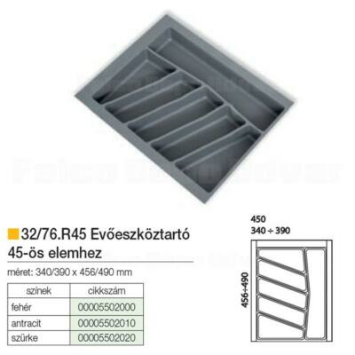 Evőeszköztartó 76-R45 490x390mm Antracit