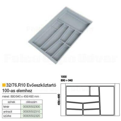 Evőeszköztartó 76-R10 490x940mm Antracit