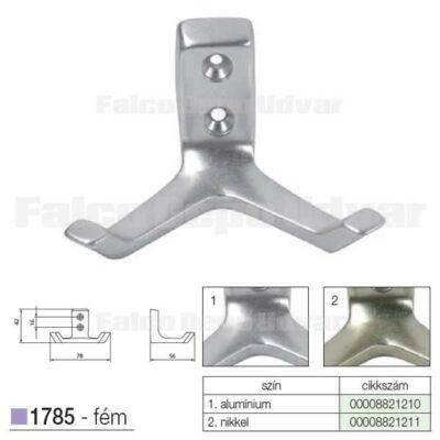 Fogas akasztó 1785-AL1-16 Alumínium