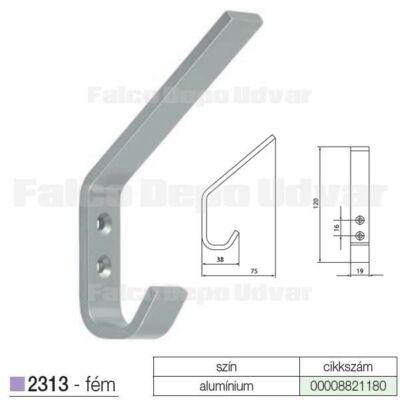 Fogas akasztó 2313-PB21-16 Alumínium
