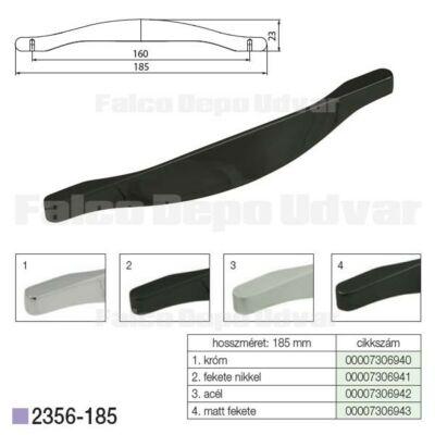 Fogantyú 2356-185ZN16 Fekete nikkel 160mm