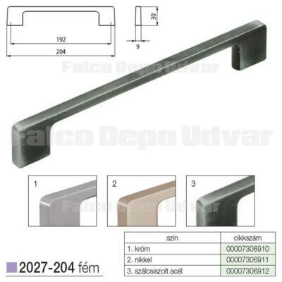 Fogantyú 2027-204ZN75 192mm Szálcsiszolt acél
