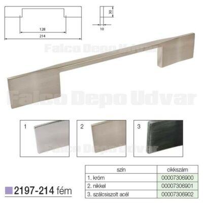Fogantyú 2197-214ZN21 128mm Nikkel
