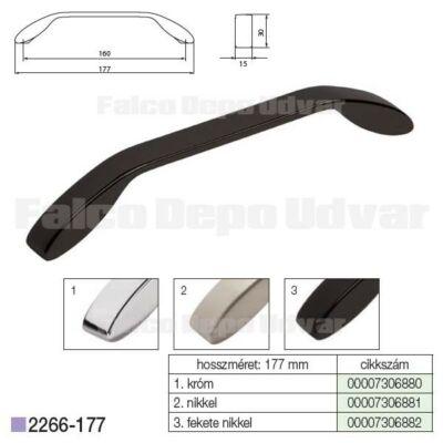 Fogantyú 2266-177ZN16 160mm Fekete nikkel