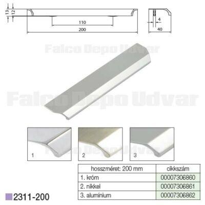 Fogantyú 2311-200PB21 128mm Aluminium