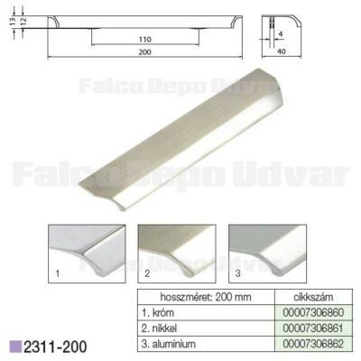 Fogantyú 2311-200ZN21 128mm Nikkel