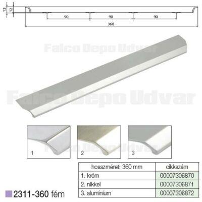 Fogantyú 2311-360PB21 288mm Aluminium