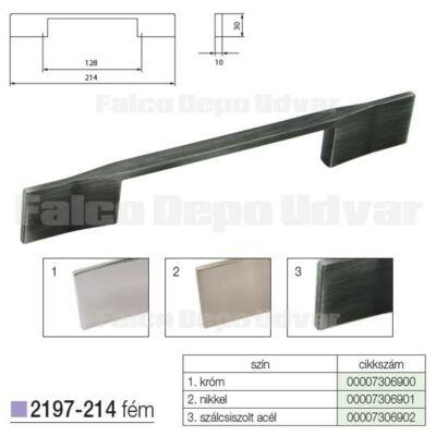 Fogantyú 2197-214ZN75 128mm Szálcsiszolt acél