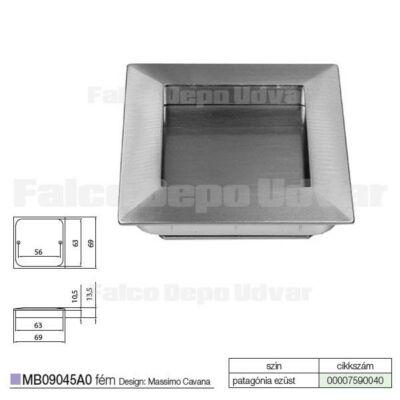 Fogantyú MB09078B0 56x63x69mm Patagóniai ezüst