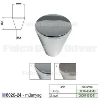 Fogantyú 8026-24 24mm Króm