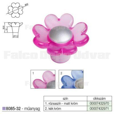 Fogantyú 8085-32 32mm Rózsaszín-Matt Króm