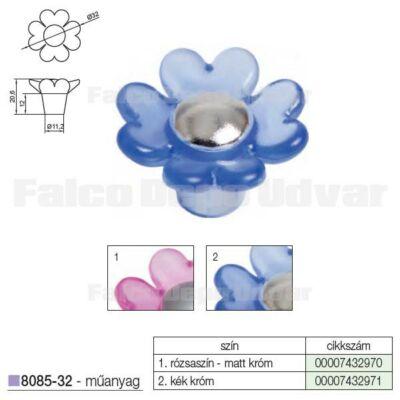 Fogantyú 8085-32 32mm Kék-Króm