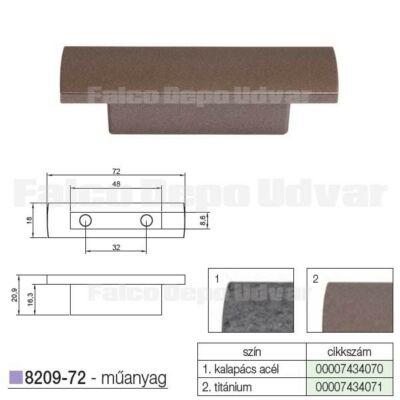 Fogantyú 8209-72 MV116 32mm Titánium
