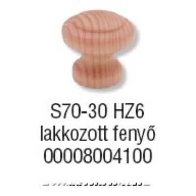 Fogantyú S 70-30 gomb Lakkozott fenyő