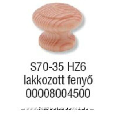 Fogantyú S 70-35 gomb Lakkozott fenyő