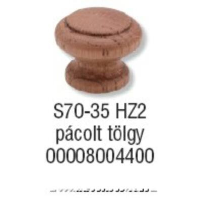 Fogantyú S 70-35 gomb Pácolt tölgy