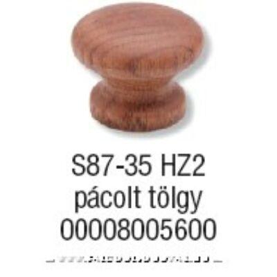 Fogantyú S 87-35 gomb Pácolt tölgy