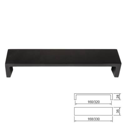 Fogantyú E070-160 Fekete