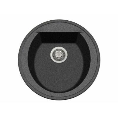 GRAWA PT2-5110N FEKETE gránit mosogató ÁTM: 510mm