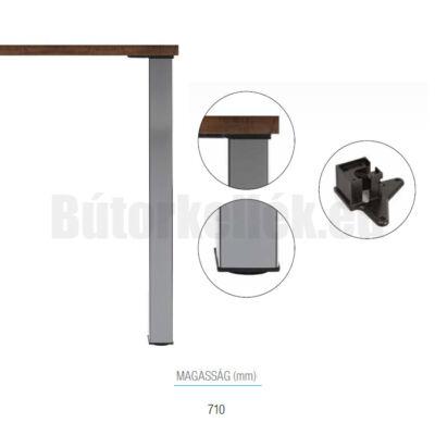 Asztalláb szögletes 710x60x60mm Króm